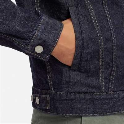 ユニクロのデニムジャケットのサイドポケット