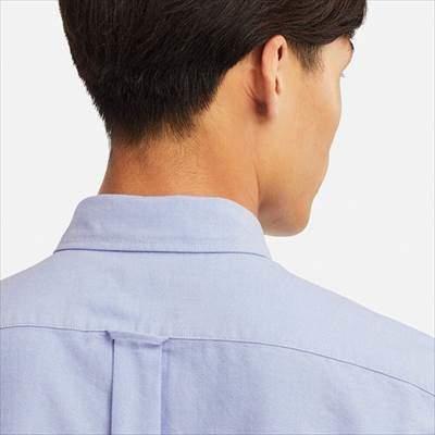 ユニクロのオックスフォードシャツ(ボタンダウン・長袖)の襟のうしろ側
