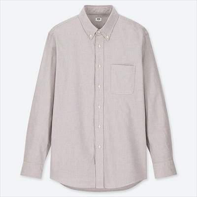 ユニクロのオックスフォードシャツ(ボタンダウン・長袖)