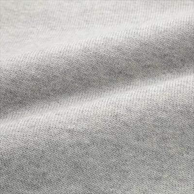 ユニクロのスーピマコットンクルーネックセーター(長袖)の生地のアップ