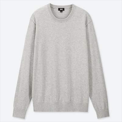ユニクロのスーピマコットンクルーネックセーター