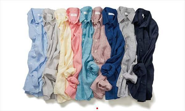 ユニクロのプレミアムリネンシャツ(長袖)