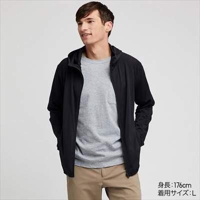ユニクロのドライEXフルジップパーカ(長袖)のブラック