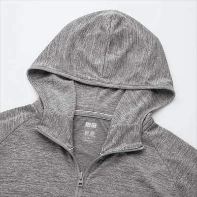 ユニクロのドライEXフルジップパーカ(長袖)