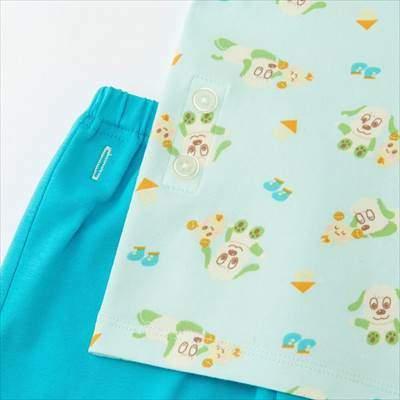 ユニクロのEテレキッズキャラクターコレクションドライパジャマ(半袖)