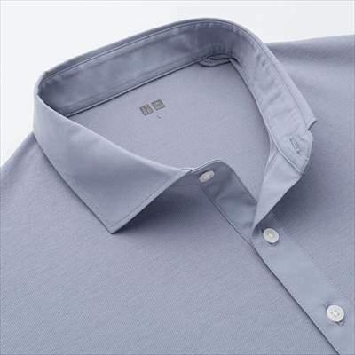 ユニクロのワイドカラーのエアリズムポロシャツ(半袖)