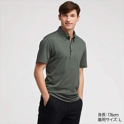 ユニクロのボタンダウンのエアリズムポロシャツ(半袖)