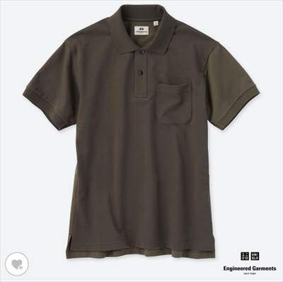 UNIQLO and Engineered Garmentsのドライカノコカラーブロックポロシャツ