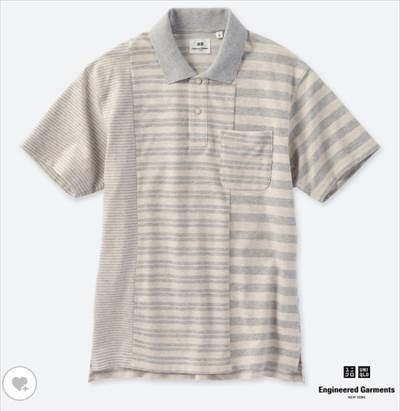 UNIQLO and Engineered Garmentsのドライカノコボーダーポロシャツ