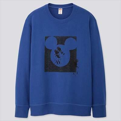 ユニクロのミッキー アートスウェットシャツ(長袖)