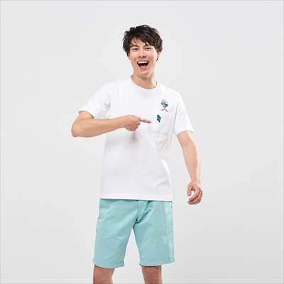 ユニクロのザ ゲームピクセルズ UT ロックマン(グラフィックTシャツ・半袖)