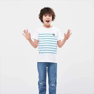 ユニクロのKIDS ザ ゲームピクセルズ UT ロックマン(グラフィックTシャツ・半袖)