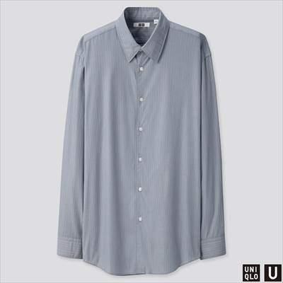 2019秋冬ユニクロUのブロードストライプシャツ(長袖)