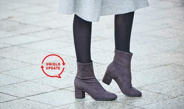 ユニクロのストレッチショートブーツ(レディース)を履いている女性