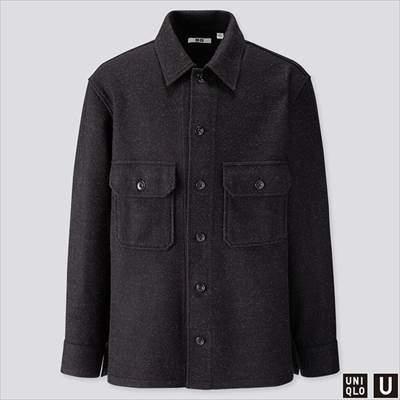 2019秋冬ユニクロUのフリースシャツジャケット(長袖)