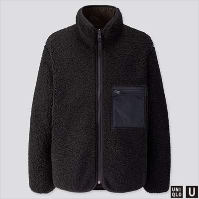 2019秋冬ユニクロUのボアフリースリバーシブルジャケット(長袖)