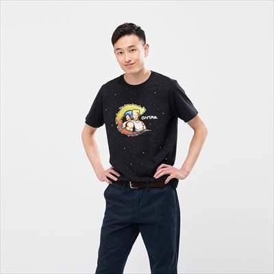 ユニクロのザ ゲームピクセルズ UT 魂斗羅(グラフィックTシャツ・半袖)