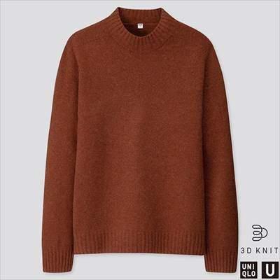2019秋冬ユニクロUの3Dプレミアムラムモックネックセーター(長袖)