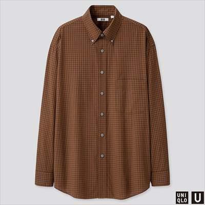 2019秋冬ユニクロUのワイドフィットチェックシャツ(長袖)