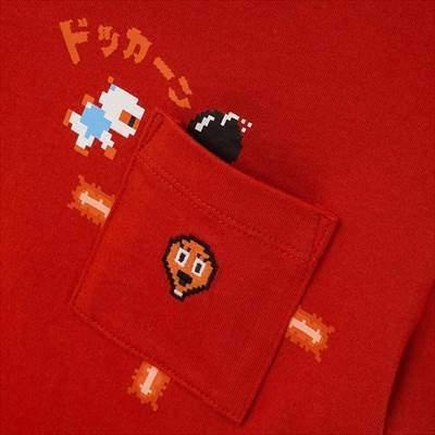 ユニクロのKIDS ザ ゲームピクセルズ UT ボンバーマン(グラフィックTシャツ・半袖)