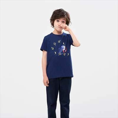 ユニクロのKIDS ザ ゲームピクセルズ UT ソニック・ザ・ヘッジホッグ(グラフィックTシャツ・半袖)