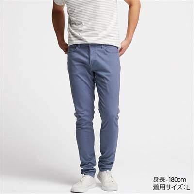 ユニクロのEZYスキニーフィットカラージーンズ(丈長め82cm)