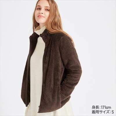 ユニクロのレディースのファーリーフリースフルジップジャケット(長袖)