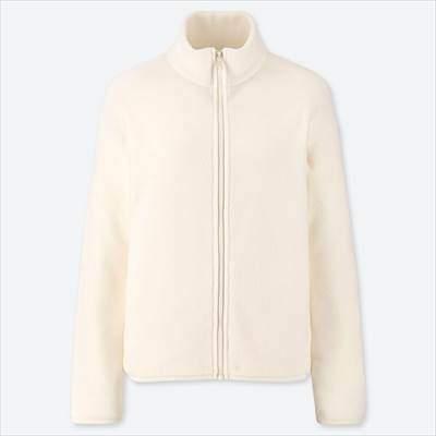 ユニクロのレディースのフリースフルジップジャケット(長袖)