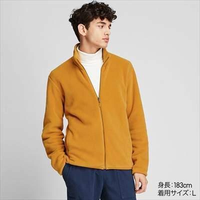 ユニクロのフリースフルジップジャケットのコーディネート例