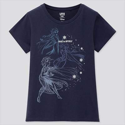 ユニクロのGIRLS ディズニー アナと雪の女王 2 コレクション UT(グラフィックTシャツ・半袖)