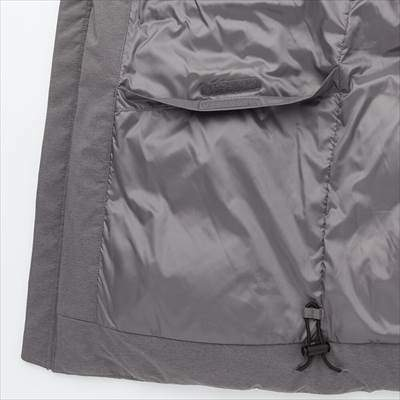 ユニクロのシームレスダウンパーカのポケット