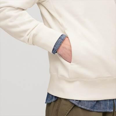 ユニクロのスウェットプルパーカ(長袖)のポケット