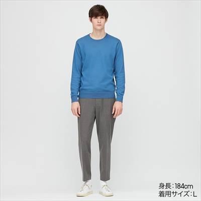 ユニクロのEZYアンクルパンツ(2WAYストレッチ・丈標準64.5~70.5cm)を履いている男性