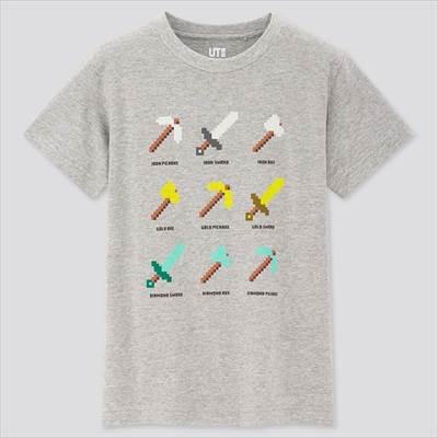 ユニクロのKIDS マインクラフト UT(グラフィックTシャツ・半袖)