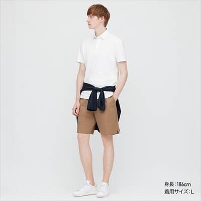 ユニクロのエアリズムジャージーポロシャツ(半袖)