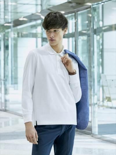 ユニクロのエアリズムUVカットポロシャツ(長袖)のコーディネート