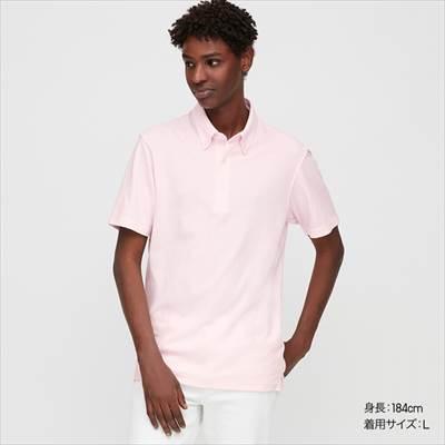 ユニクロのエアリズムカノコポロシャツ(ボタンダウン・ストライプ・半袖)