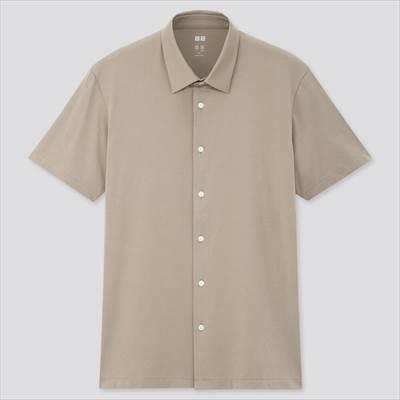 ユニクロのエアリズムジャージーポロシャツ(フルオープン・半袖)