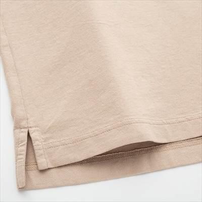 ユニクロのオーバーサイズジャージーポロシャツ(半袖)の生地