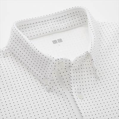 ユニクロのエアリズムカノコポロシャツ(ドット・半袖)