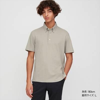 ユニクロのエアリズムカノコポロシャツ(ボタンダウン・半袖)