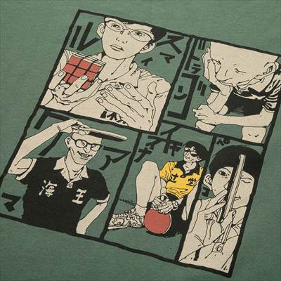 ユニクロのマンガ UT スポーツ ピンポン(グラフィックTシャツ・半袖)