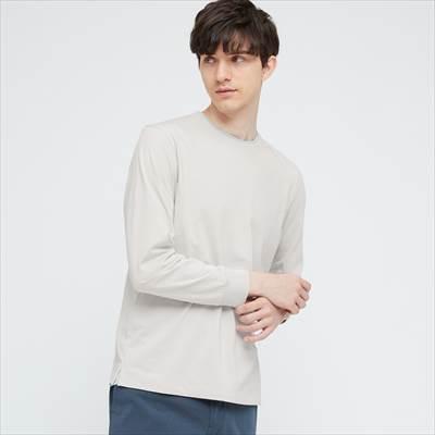 ユニクロのエアリズムコットンUVカットクルーネックTシャツ(長袖)