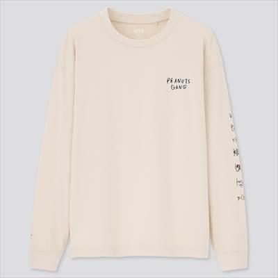 ユニクロ×ピーナッツ × 長場雄 クルーネックシャツ(長袖)