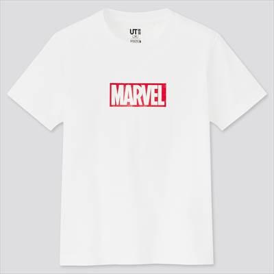 ユニクロのKIDS マーベル・エッセンシャルズ UT グラフィックTシャツ(半袖)