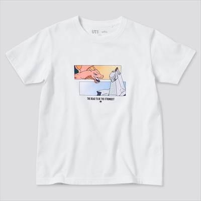 ユニクロのKIDS ポケモン オールスターズ UT グラフィックTシャツ リザードン ジュラルドン(半袖)