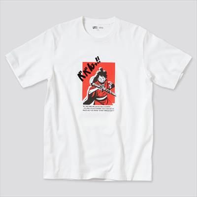 ONE PIECE ワノ国 UT グラフィックTシャツ モンキー・D・ルフィ(半袖・レギュラーフィット)