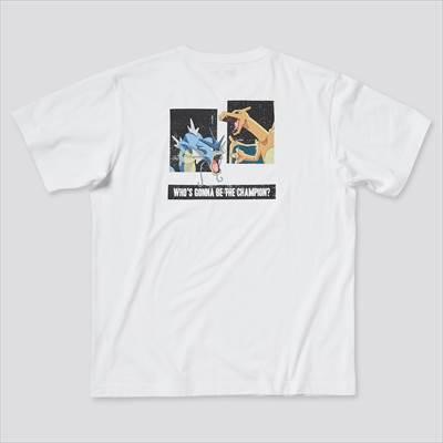 ユニクロのポケモン オールスターズ UT グラフィックTシャツ ギャラドス リザードン(半袖・レギュラーフィット)