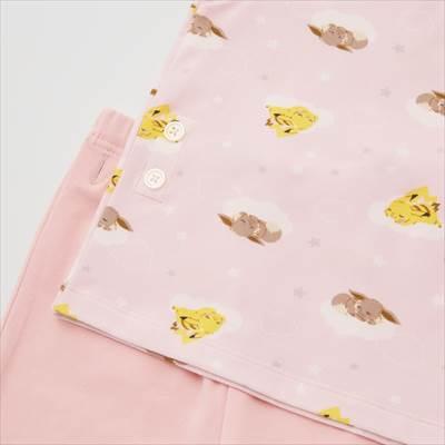 ユニクロのポケモンのゆめのなか ドライパジャマ(半袖)