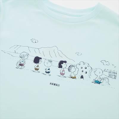 ユニクロのKIDS ピーナッツ ハワイ UT グラフィックTシャツ(半袖)